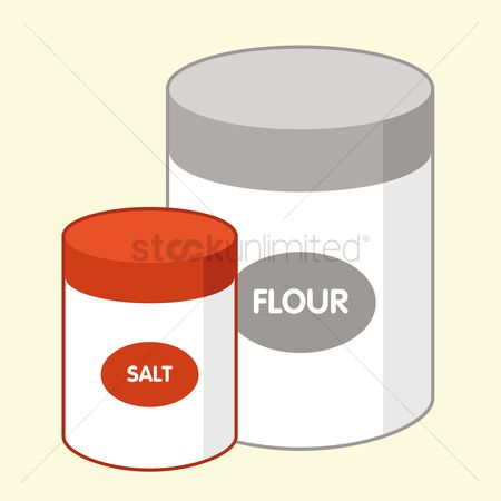 Flour : Salt and flour bottle