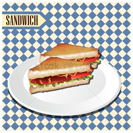 Unhealthy eating : Sandwich
