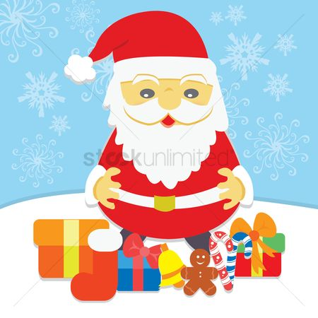 Cookie : Santa claus with gifts