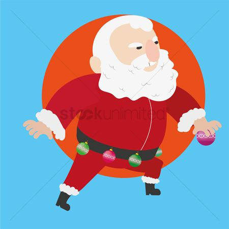 Jingle bells : Santa claus with jingle bells