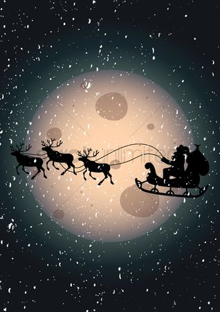 Moon : Santa in the sky