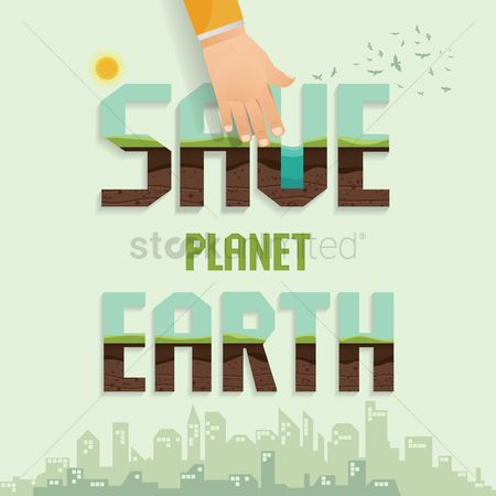 Pollution : Save planet earth concept