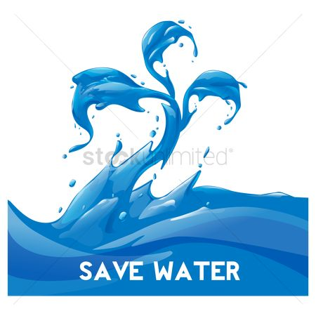 Clean : Save water concept
