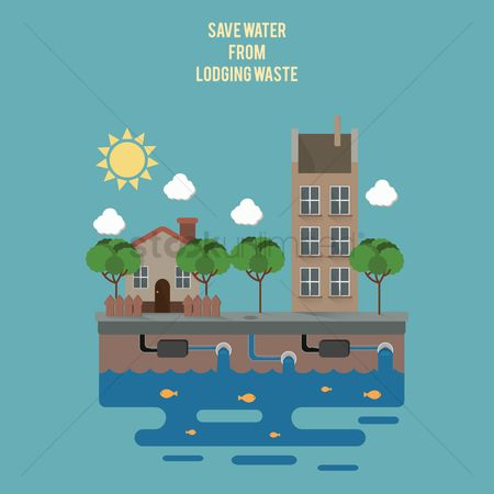 Pollution : Save water from lodging waste