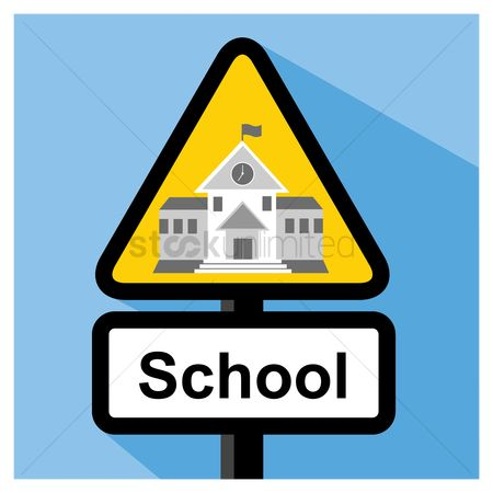Beware : School sign