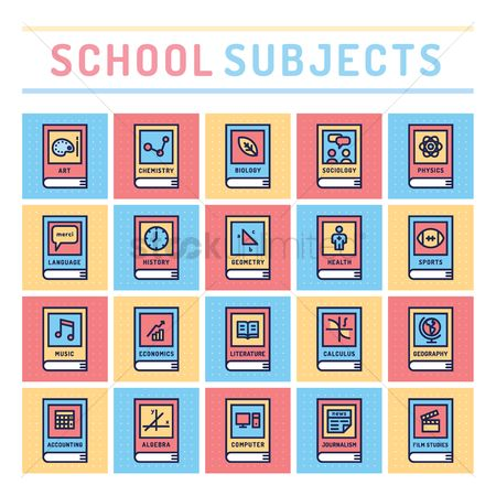 Icons news : School subjects