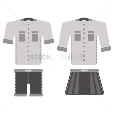 Skirt : School uniform