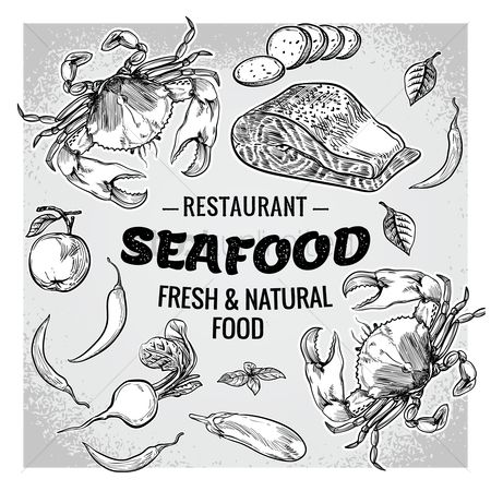 Agriculture : Seafood restaurant with fresh and natural food