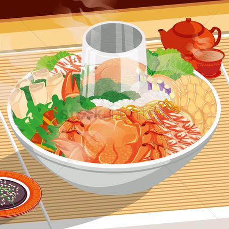 Crabs : Seafood steamboat