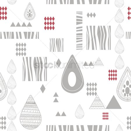 Drips : Seamless abstract design