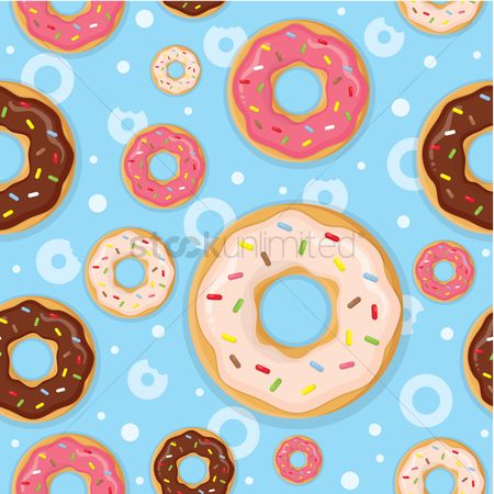 Textures : Seamless background with donuts