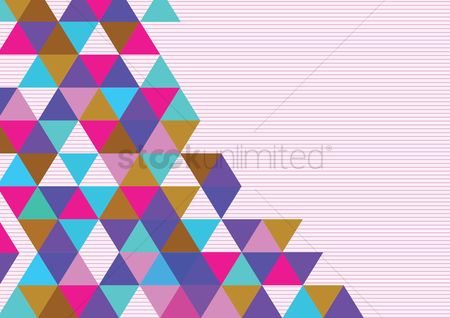 Grids : Seamless colorful triangles