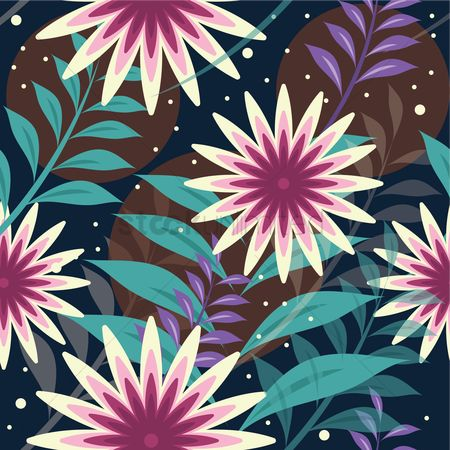 Wallpaper : Seamless flower background