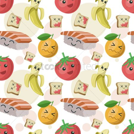 Bananas : Seamless food background