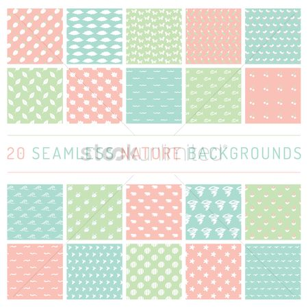 Wallpaper : Seamless nature backgrounds