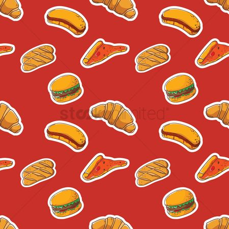 Hotdogs : Seamless pastries and fast food design