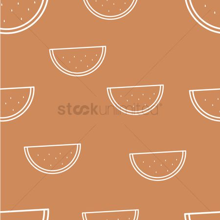 Watermelon slice : Seamless watermelon wallpaper