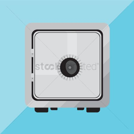 Password : Security concept with metal safe icon
