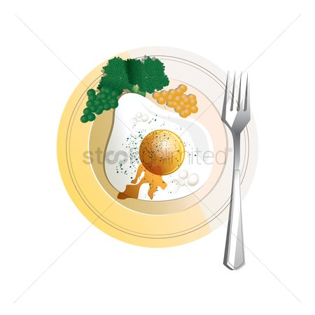 Greens : Serving of sunny side up