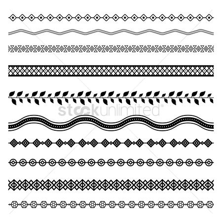 Geometrics : Set of abstract border designs