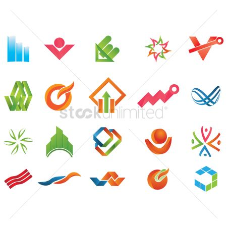 Products : Set of abstract icons