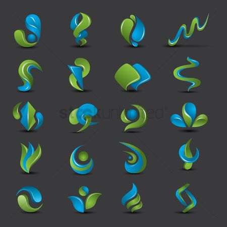 Sets : Set of abstract logo elements