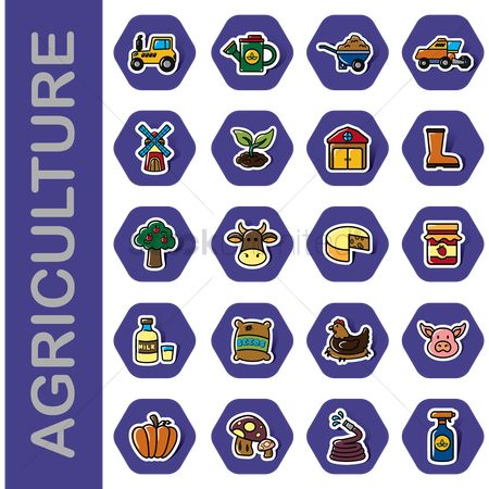 Sack : Set of agriculture icons