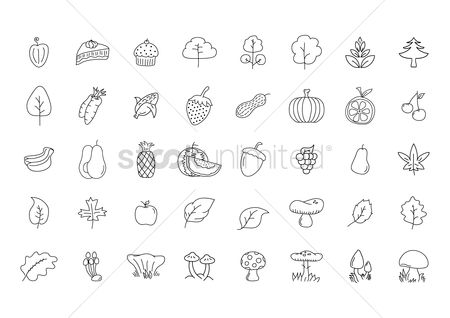 Bananas : Set of agriculture icons