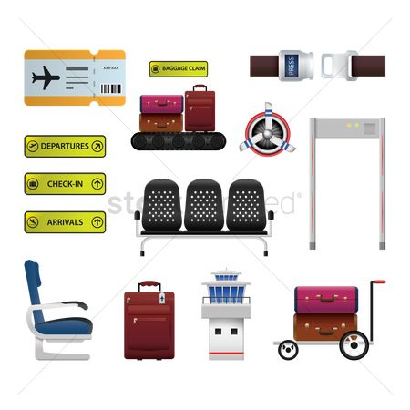 Signages : Set of airport icons
