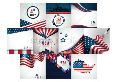 Patriotic : Set of american icons