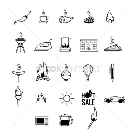 Jug : Set of assorted icons