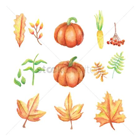 Fresh : Set of autumn icons