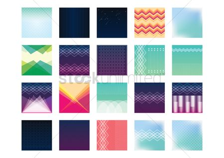 Zig zag : Set of backgrounds
