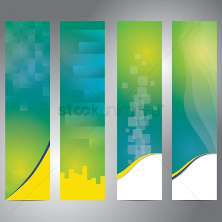 Gradient : Set of banner with colorful abstract background