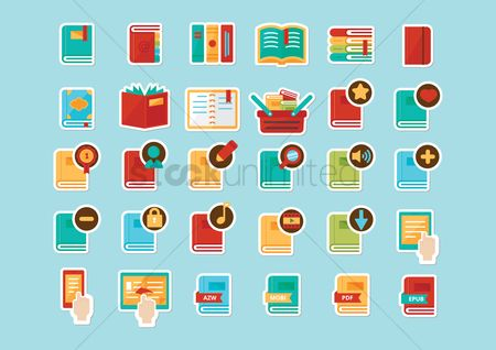 Favourites : Set of book icons