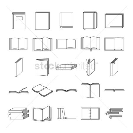 Open : Set of books icons