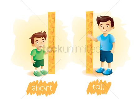 Measure : Set of boy height icons