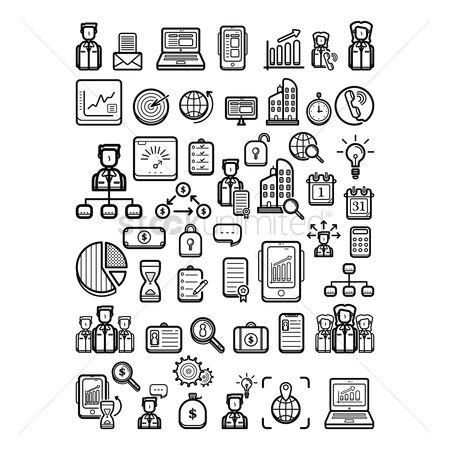 Call : Set of business icons