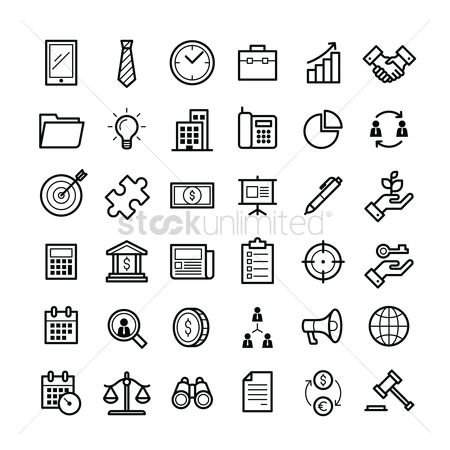 Pad : Set of business icons
