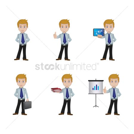 Workers : Set of businessman icons