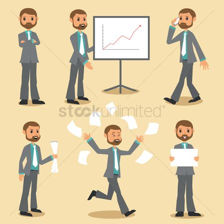 Profits : Set of businessman icons
