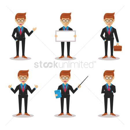 Briefcase : Set of businessmen