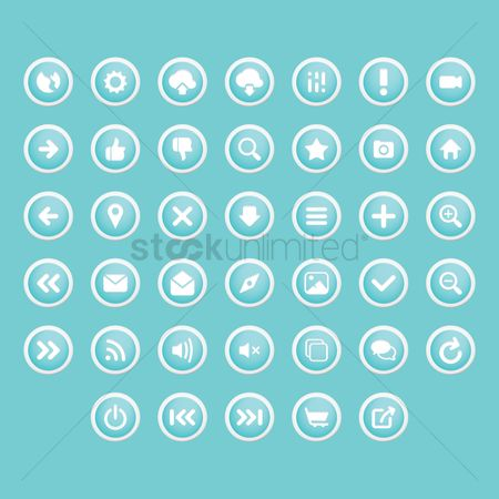 Open : Set of button icons