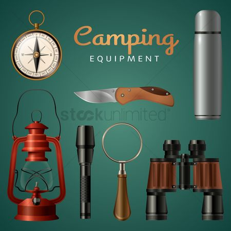 Camp : Set of camping equipment