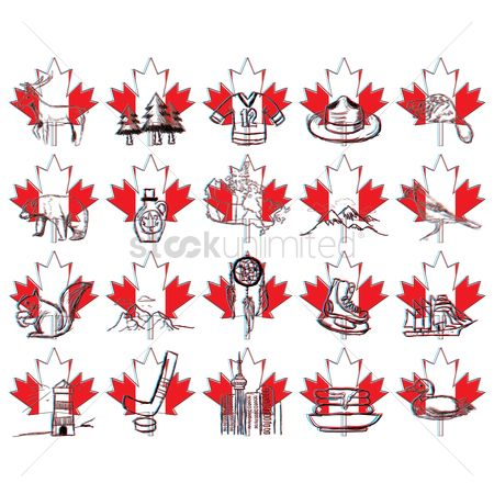 Hotcake : Set of canada icons