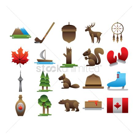 Mitten : Set of canada icons
