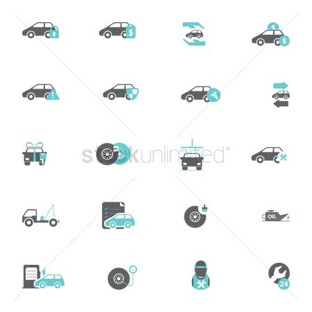 Cleaner : Set of car icons