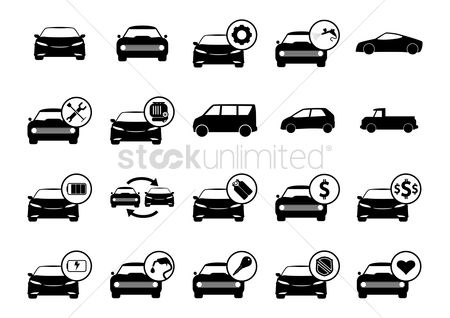 Fuel : Set of car icons