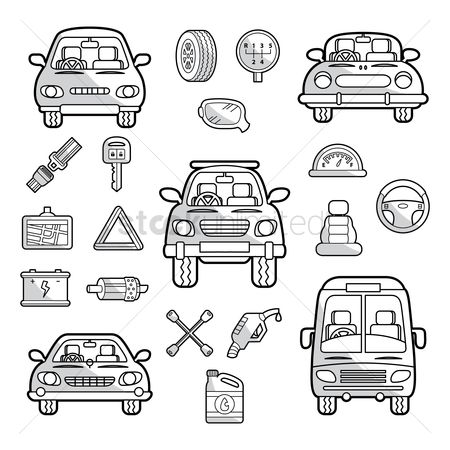 Meter : Set of cars and its parts