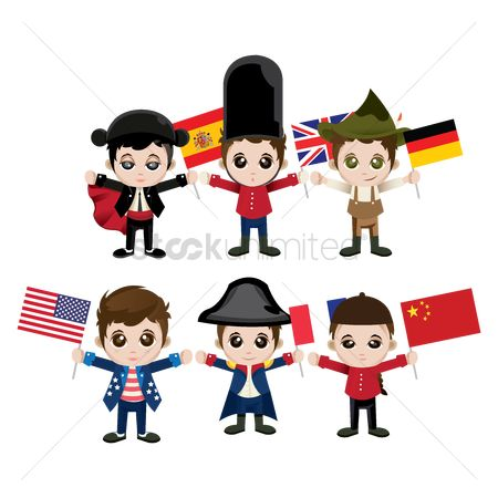 Country : Set of characters with flags